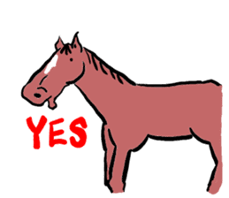 Mr,E-horse sticker #4944369