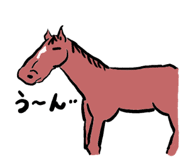 Mr,E-horse sticker #4944373