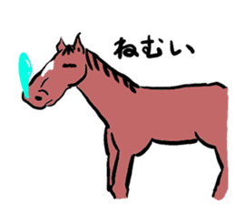 Mr,E-horse sticker #4944381
