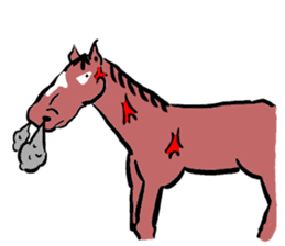 Mr,E-horse sticker #4944386