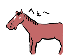 Mr,E-horse sticker #4944397