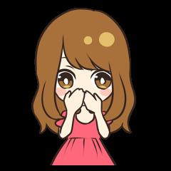 Cheerful girl sticker