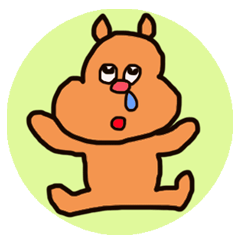 Funny squirrel sticker