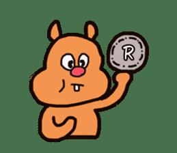 Funny squirrel sticker sticker #4947182