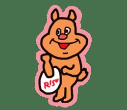 Funny squirrel sticker sticker #4947186