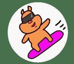 Funny squirrel sticker sticker #4947197