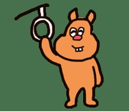 Funny squirrel sticker sticker #4947200