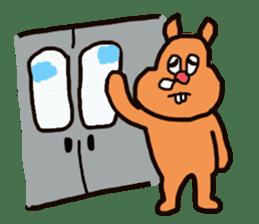 Funny squirrel sticker sticker #4947201