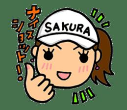 SAKURA YOKOMINE LOVE GOLF sticker #4947207