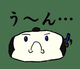 Kagami mochi samurai part2 sticker #4948249