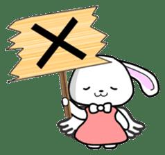 Faith Rabbit sticker #4949505
