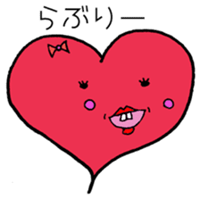 Tooth heart sticker #4950373