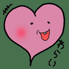 Tooth heart sticker #4950387