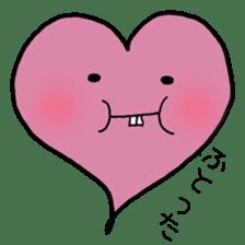 Tooth heart sticker #4950397