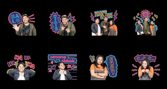 สติ๊กเกอร์ไลน์ Indonesian Idol