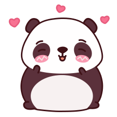 Malwynn Panda Bear Lovely Sticker Set