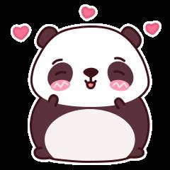 Malwynn Panda Bear Lovely Sticker Set