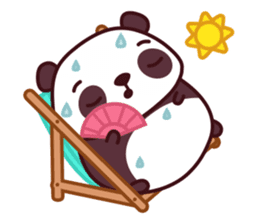 Malwynn Panda Bear Lovely Sticker Set sticker #4950855
