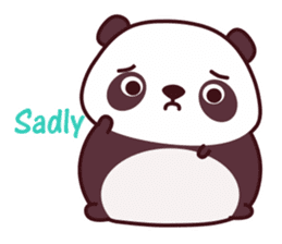 Malwynn Panda Bear Lovely Sticker Set sticker #4950876