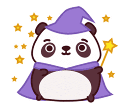 Malwynn Panda Bear Lovely Sticker Set sticker #4950878