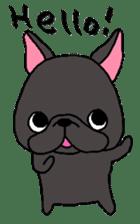 Black French Bulldog Sticker sticker #4951246