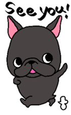 Black French Bulldog Sticker sticker #4951247