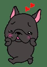Black French Bulldog Sticker sticker #4951253