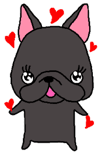 Black French Bulldog Sticker sticker #4951255