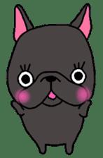 Black French Bulldog Sticker sticker #4951256