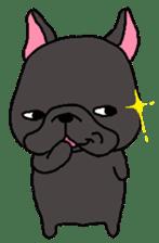 Black French Bulldog Sticker sticker #4951258