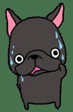 Black French Bulldog Sticker sticker #4951262