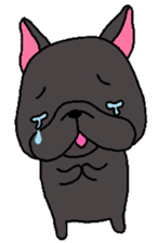 Black French Bulldog Sticker sticker #4951276