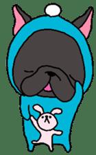 Black French Bulldog Sticker sticker #4951285