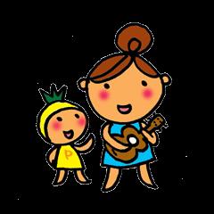 Ukulele Girl and P Nappuru kun