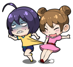 Grumpy Girl sticker #4965200
