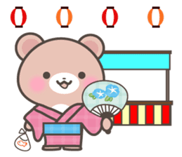 Kumatan in summer sticker #4967023
