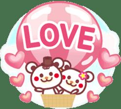 LOVE LOVE! I like you -Chocolate bear- sticker #4970206