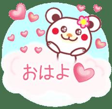 LOVE LOVE! I like you -Chocolate bear- sticker #4970208