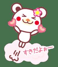 LOVE LOVE! I like you -Chocolate bear- sticker #4970210