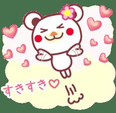 LOVE LOVE! I like you -Chocolate bear- sticker #4970211