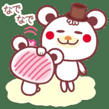 LOVE LOVE! I like you -Chocolate bear- sticker #4970216