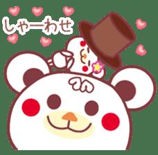 LOVE LOVE! I like you -Chocolate bear- sticker #4970221