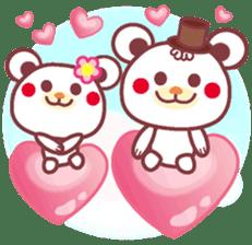 LOVE LOVE! I like you -Chocolate bear- sticker #4970230