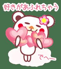 LOVE LOVE! I like you -Chocolate bear- sticker #4970234