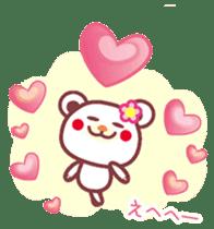 LOVE LOVE! I like you -Chocolate bear- sticker #4970235