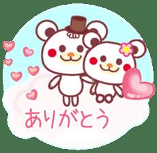 LOVE LOVE! I like you -Chocolate bear- sticker #4970244