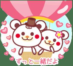 LOVE LOVE! I like you -Chocolate bear- sticker #4970245