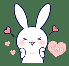Lovey-dovey rabbit (English) sticker #4976006