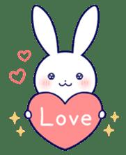 Lovey-dovey rabbit (English) sticker #4976008