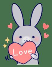 Lovey-dovey rabbit (English) sticker #4976009